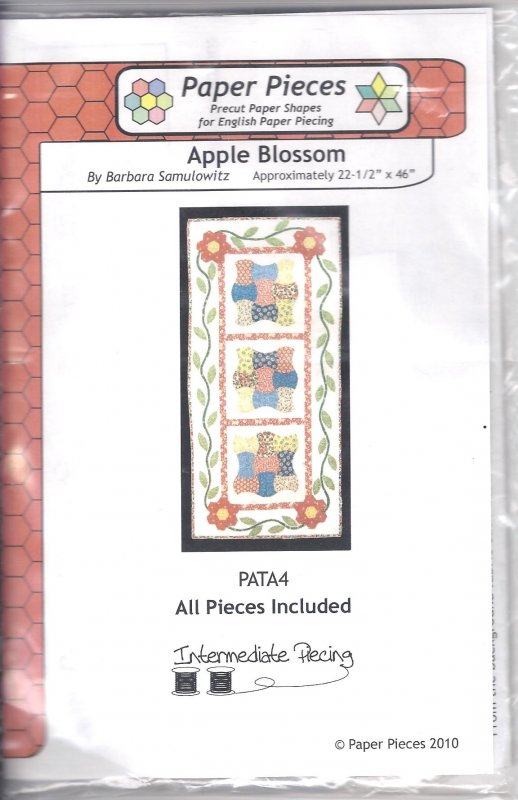 Apple Blossom Table Runner Pattern PATA4  by Paper Pieces