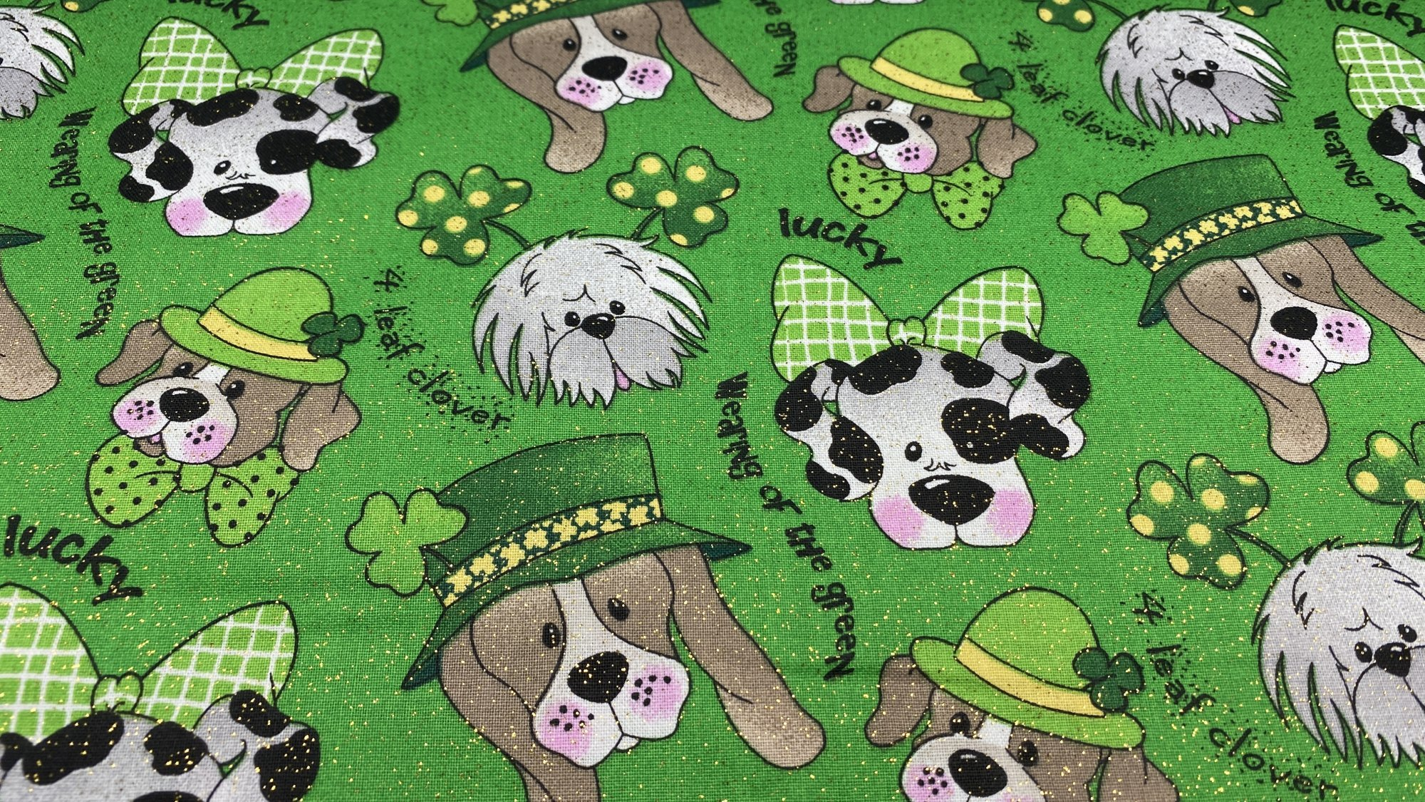 St. Patrick's Day Lucky Dogs on Green 12194