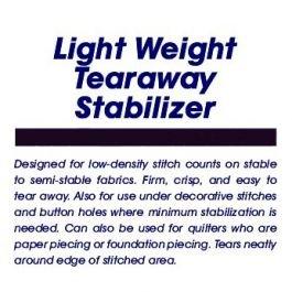Light Tearaway Stablizer