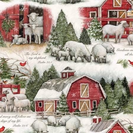 Christmas The Lord is My Shepherd Scenic