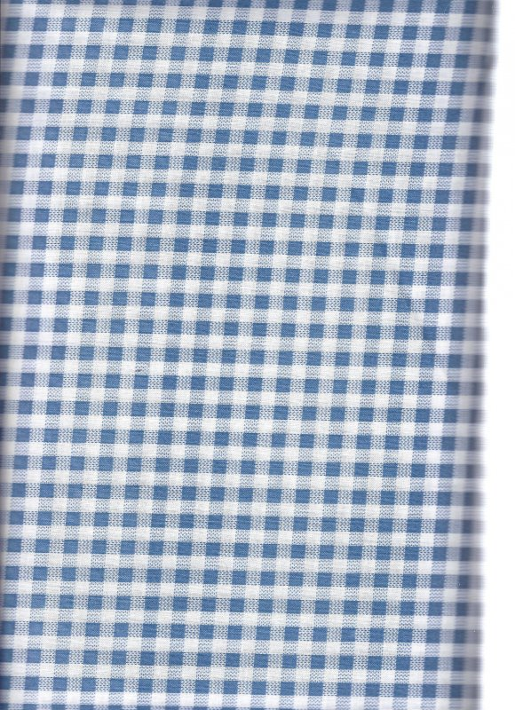 Blue & White Check David  624097A 100%  Cotton Fabric