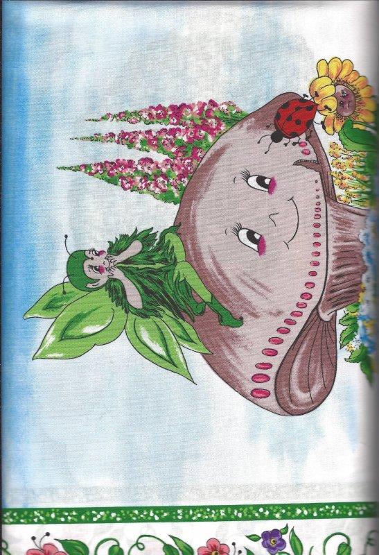 Katrinka SweetBlossom  505 A 100% Cotton Fabric  Panel by Troy