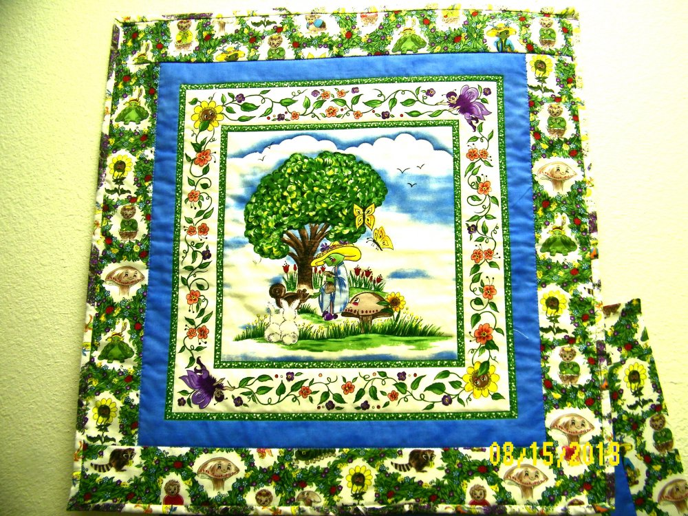 Katrinka Sweet Blossom Wallhanging Kit  #2  100% Cotton Fabric Troy  24 - copy