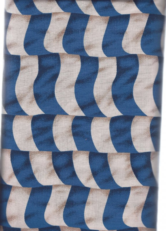 American Strip Blue Marcus Bros  100% Cotton Fabric