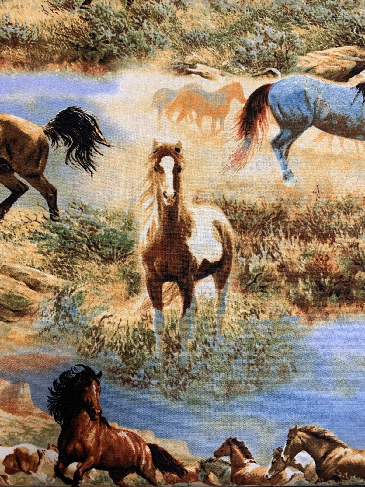 Horses In The Prairies WW-3060-6c-1