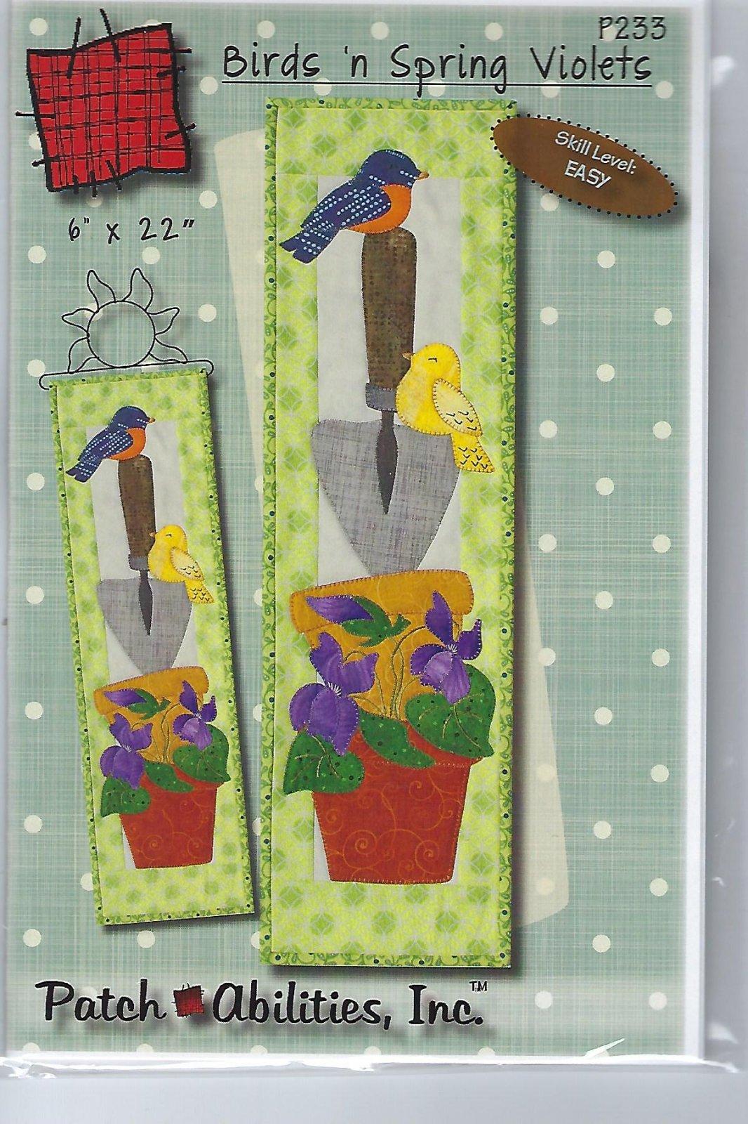 Birds 'n Spring Violets Pattern Plus hanger P233