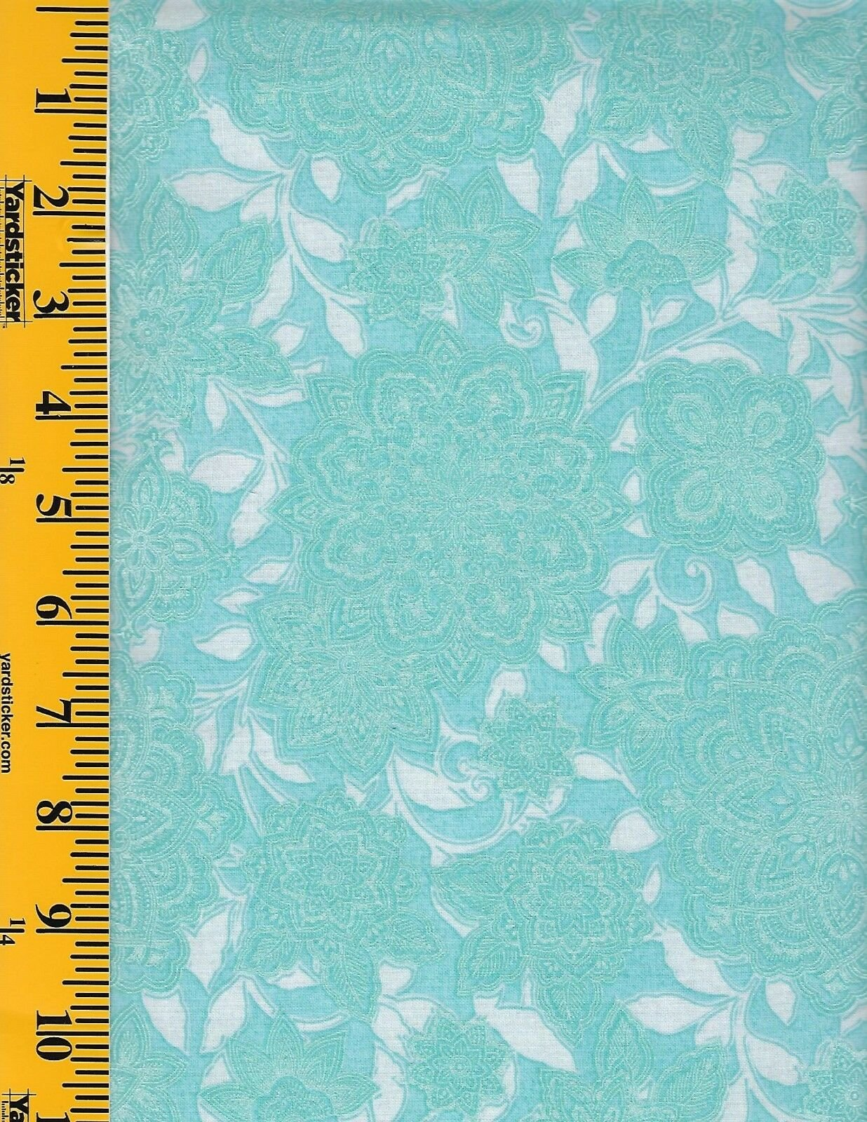 PICCADILLY TONAL FLORAL TEAL 0112