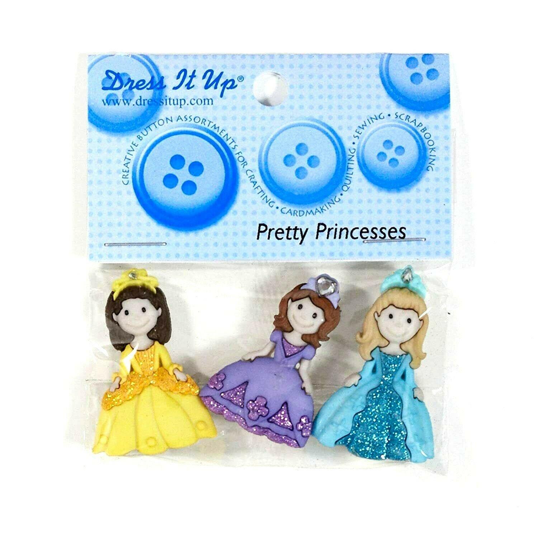 Dress It Up Buttons - Pretty Princesses