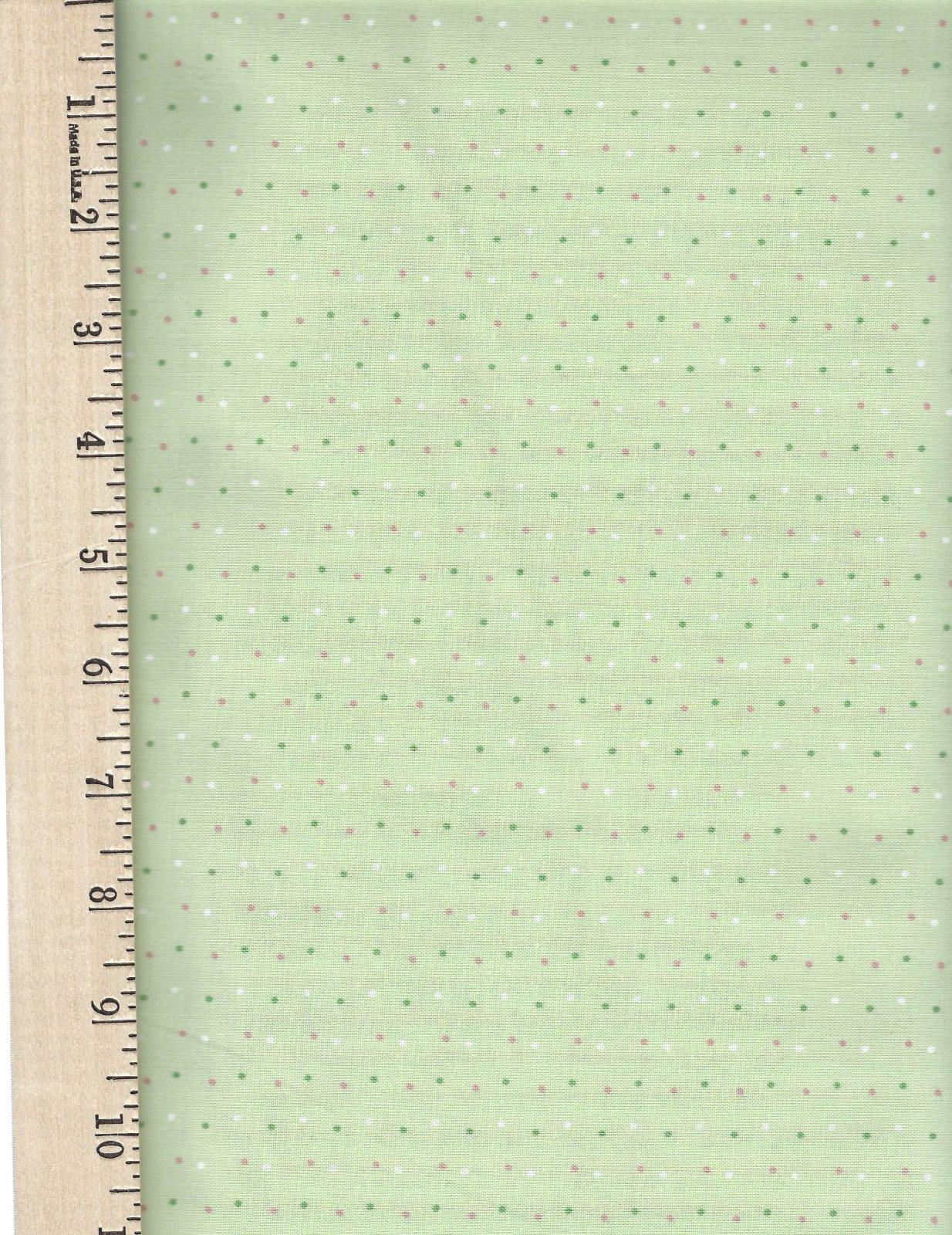 BF105 Light Green Dots