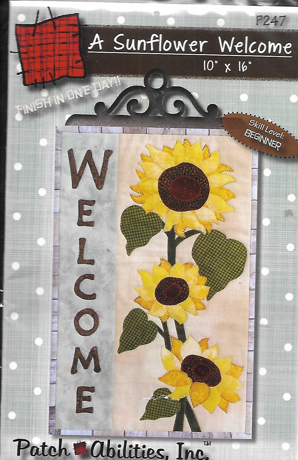A Sunflower Welcome P247 Wall Hanger Pattern