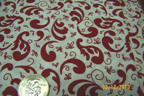 Black White - Red White 47877-RED 100% Cotton Fabric