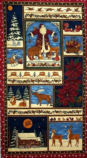 A Woodland Christmas Panel