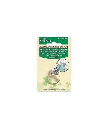 Clover Plated Adjustable Ring Thimble CLO0611