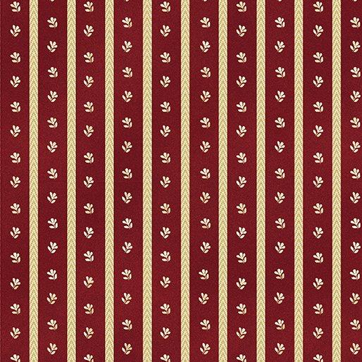 Liberty Hill Twill Daisy Stripe-Red