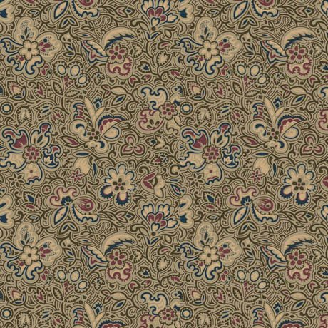 Canterbury Linear Floral-Olive