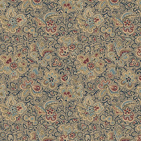 Canterbury Linear Floral-Navy