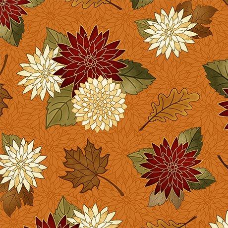 Harvest Greetings Chrysanthemums-Pumpkin