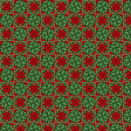 Home For The Holidays Snowflake Tiles Green