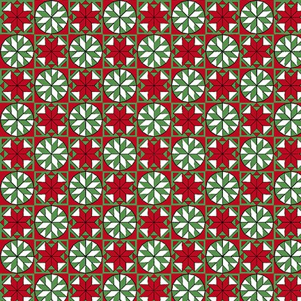 Home For The Holidays Snowflake Tiles Red/Green