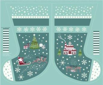 Christmas Glow Blue Stocking