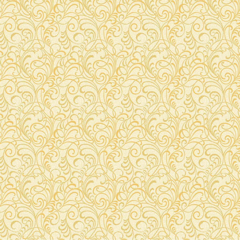 Sun - Yellow Scrolls Squared