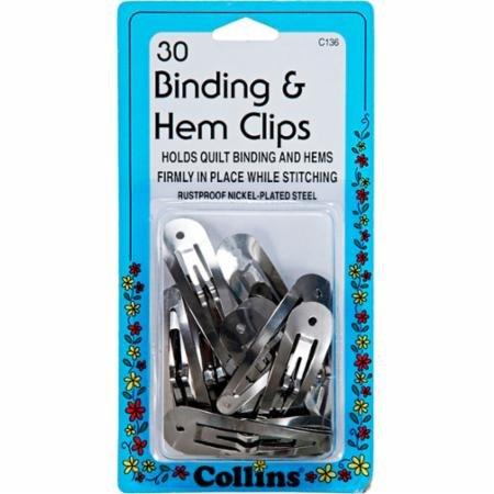 Binding & Hem Clips 30Ct