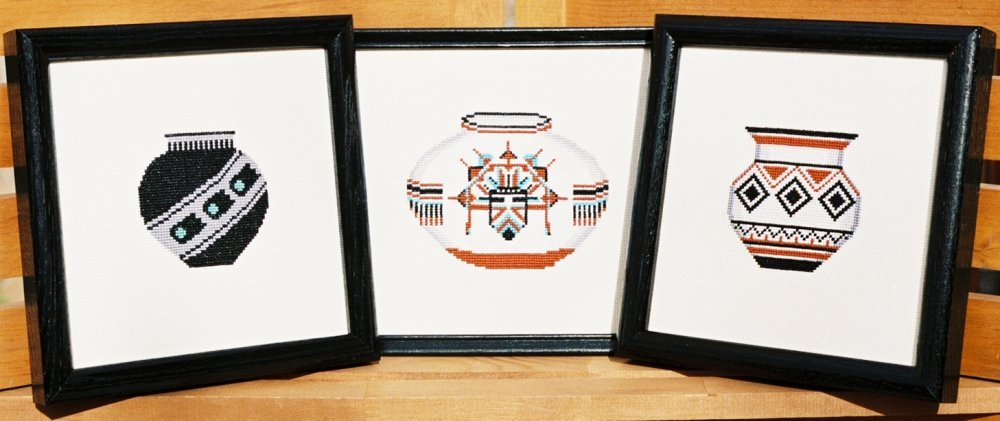 Pueblo Pottery - 6 Counted Cross Stitch