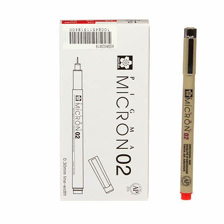 Pigma Pen Red - Size 02
