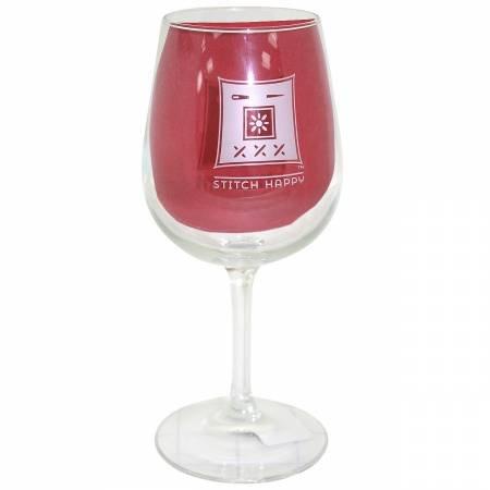 Stitch Happy - Wine Glass