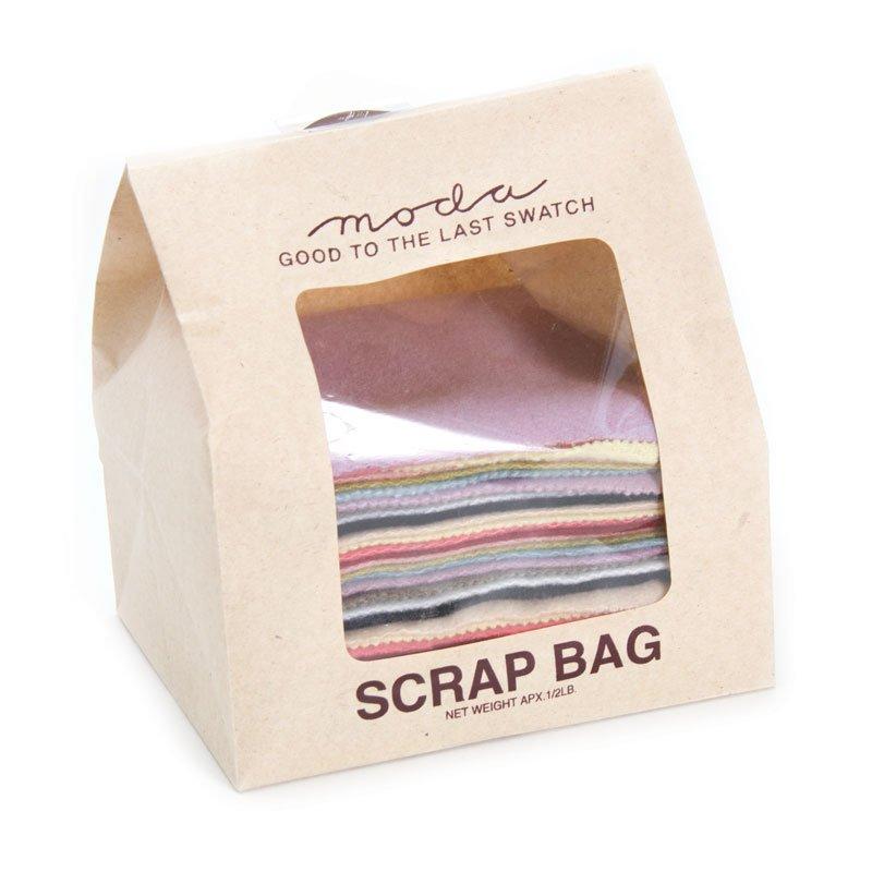 Moda Wool Scrap Bag WOOL SCRAP 4 x 5 Pre-cuts