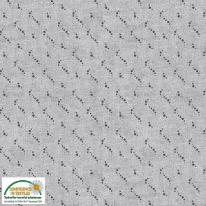 Blank Quilting By Stof  S-PETITS MOTIFS-4512-569 Gray tonal dot squiggle