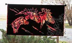 Stirrups & Stitches Wild Horses Silhouette Laser Cut WH-L-2017
