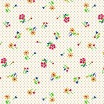 Marcus  Brothers Fabrics MBWHTAG R35-8083-0311White W/red & yellow flowers