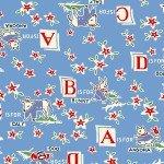 Marcus  Brothers Fabrics Aunt Grace MBBLUAG 8087-0322 Blue w/red alphabet & animals