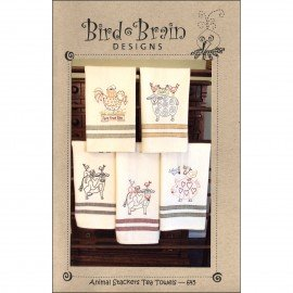 Animal Stackers Tea Towels PATTERN Bird Brain Designs  BBD645