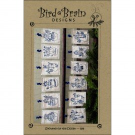 Snowmen By the Dozen PATTERN Ornaments Bird Brain Designs BBD699
