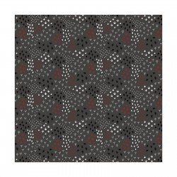 Camelot Hudson CAM21172105-1 Field Small leaves on dark gray