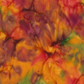 Clothworks Fresh Batiks Minerals CLTFBT01-51 Greens, Yellows and Purples