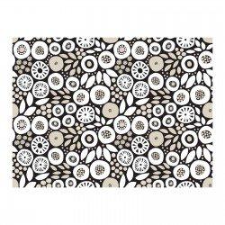 Clothworks Birds & Blooms  CLTY2464-3 Black  Circle Seeds on black