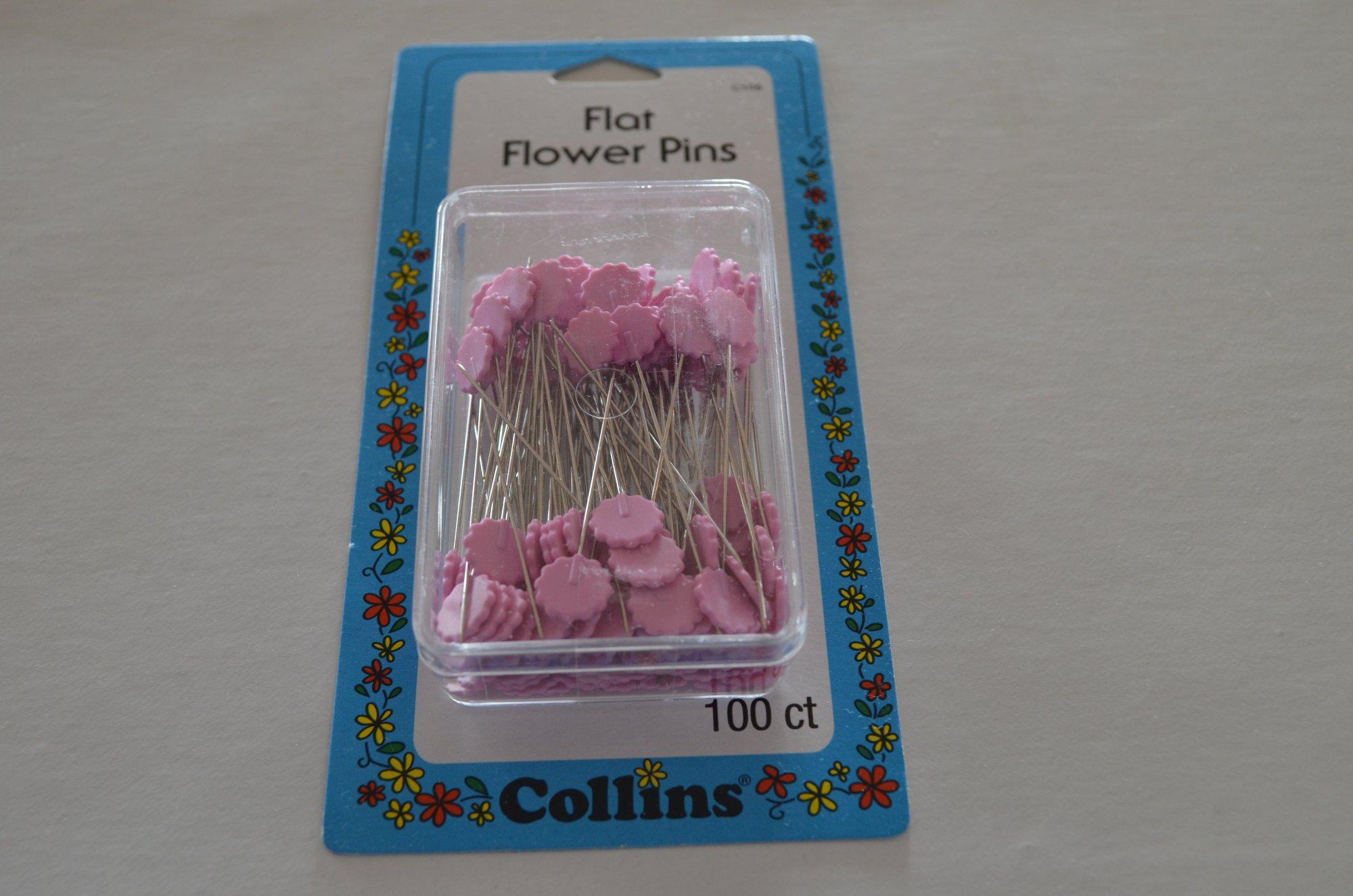 Collins Flat Flower Pins C155