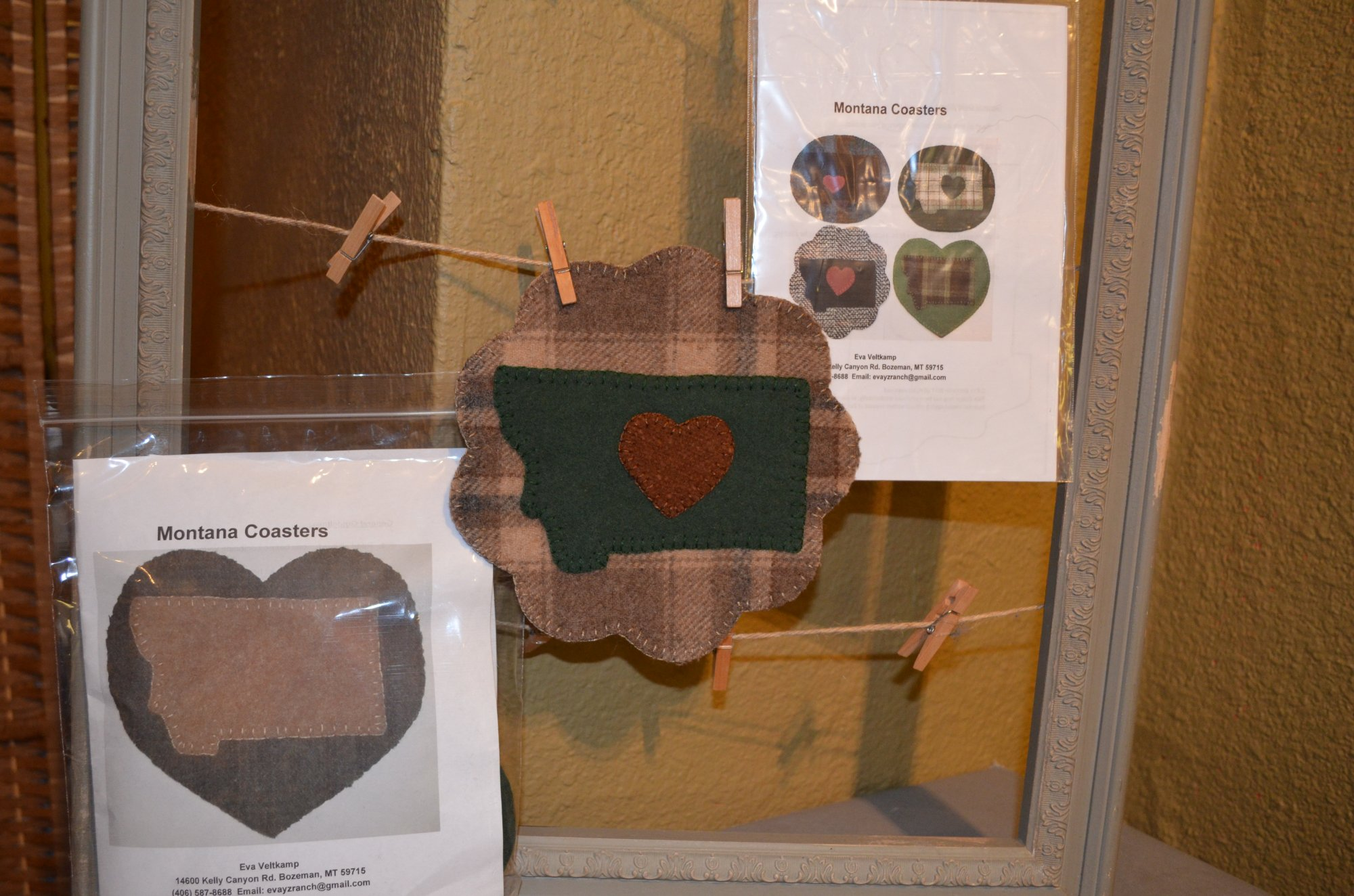 Montana Wool Coasters Kit Heart-4  By Eva Veltkamp 4ct.