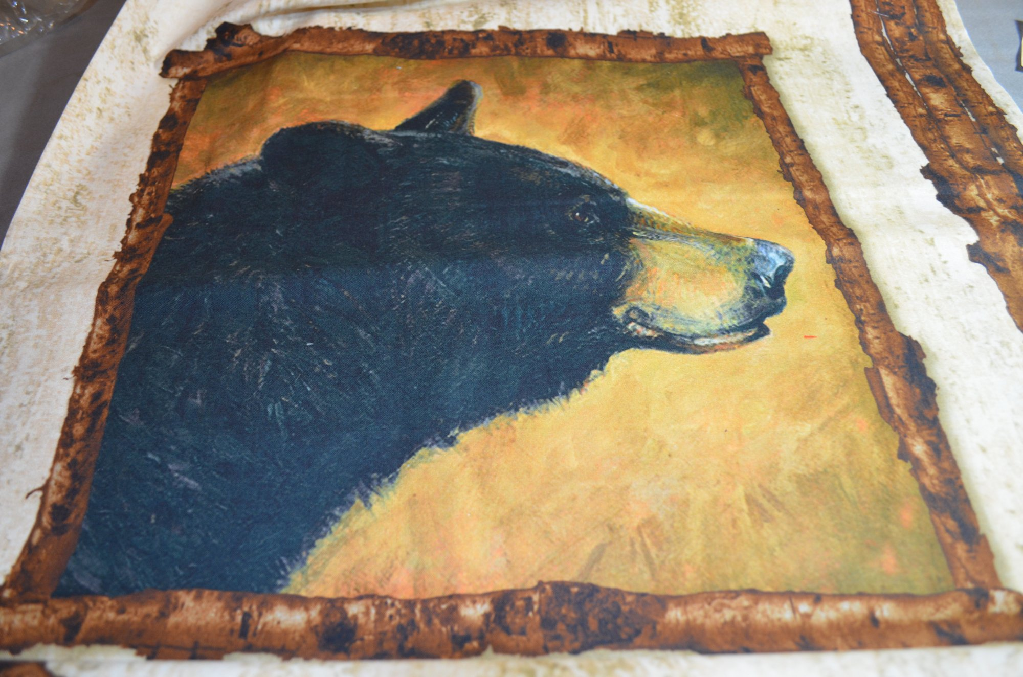Riley Blake Majestic Digital Panel 36  PD5571-W Pillow panel wildlife