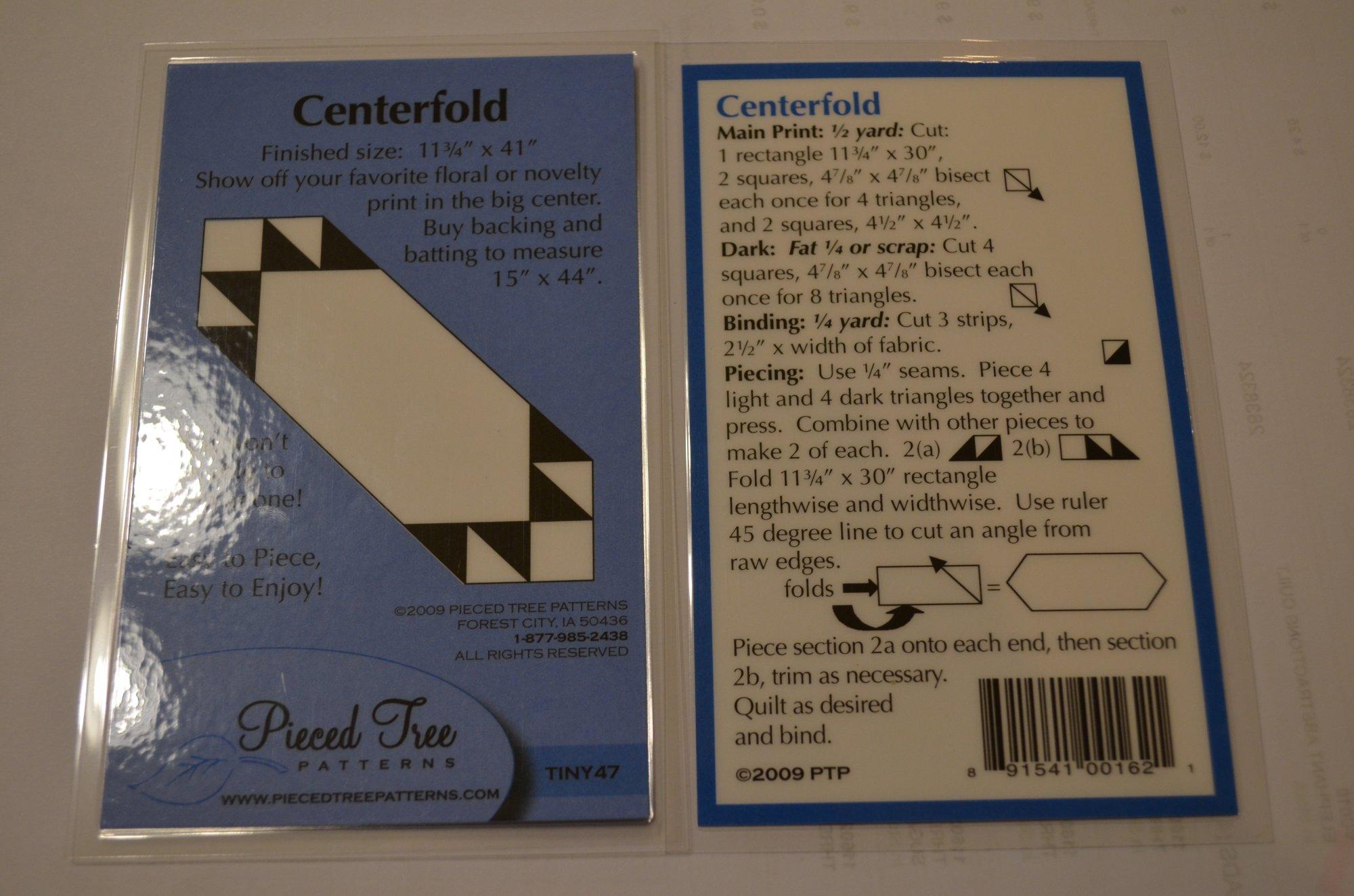 Centerfold Table Runner Pattern TINY47 PiecedTree