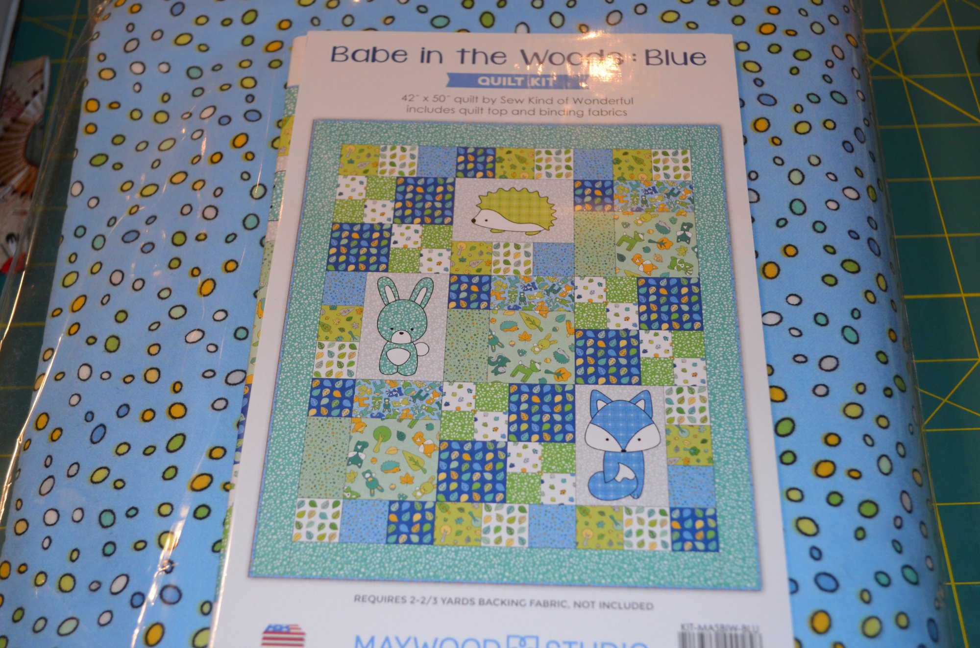 Babe In The Woods Flannel Kit  KIT-MASBIW-BLU 42 X 50