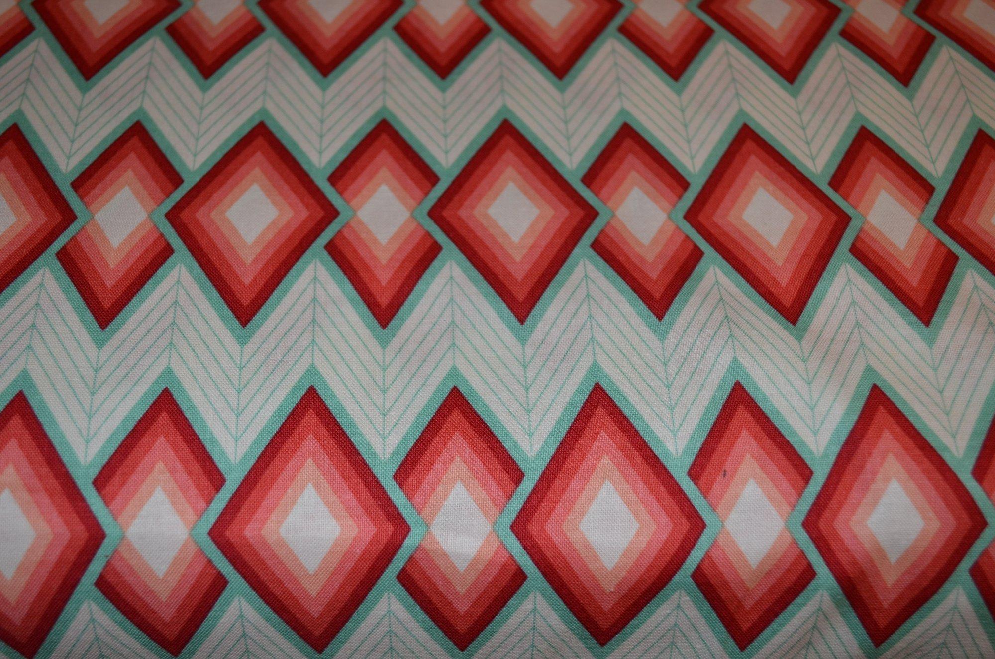 Free Spirit Florabelle  PWJD147SEDON Tapestry  Melon diamonds