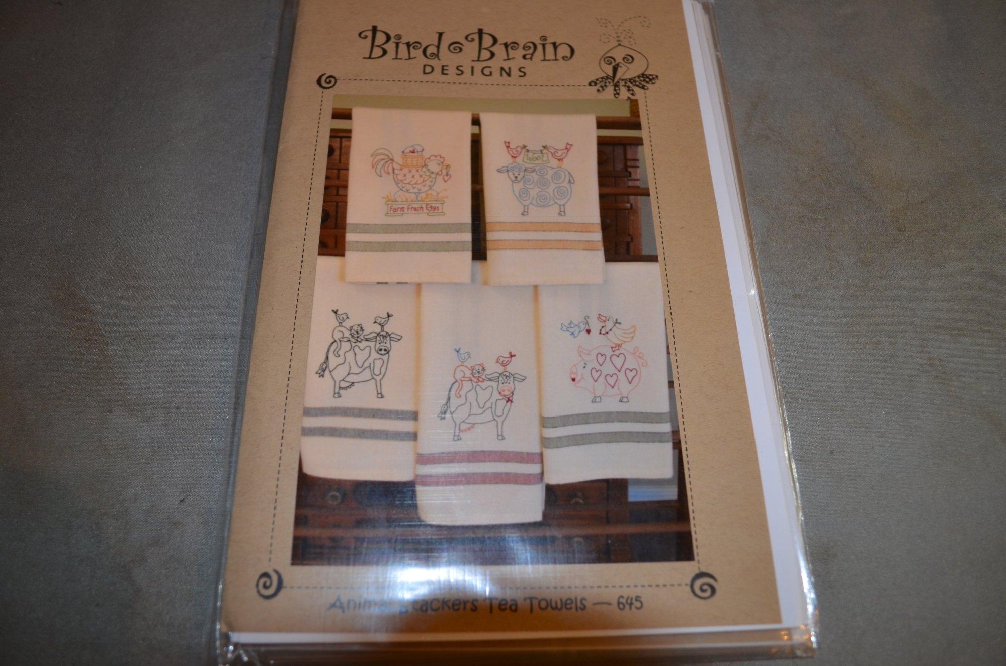 Bird Brain Animal Stackers Tea Towels Pattern BBD645