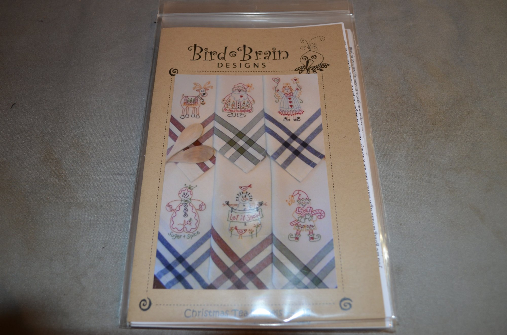 Bird Brain Christmas Tea Towels Pattern BBD326