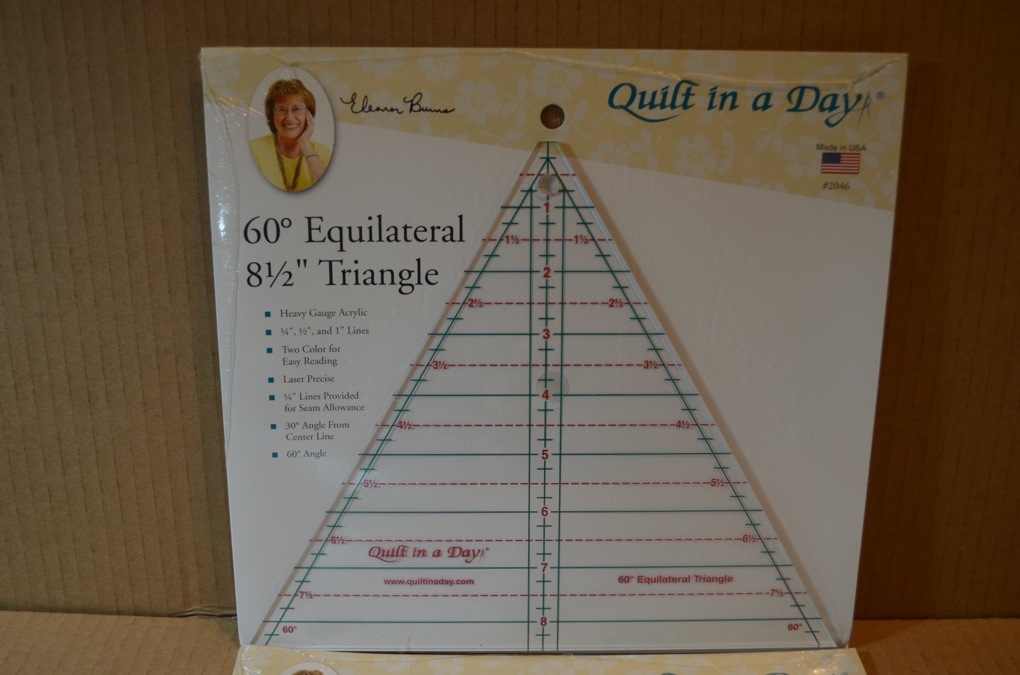 60 Degree 8.5 Triangle Ruler By Quilt In A Day