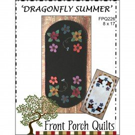 Dragonfly Summer KIT Front Porch Quilts FRP226K 8 X 17