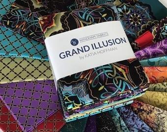 Windham Fabrics Grand Illusion GRANFATQ-X Fat Quarter Bundle Grand Illusion Multi 22pcs